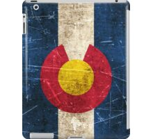 Vintage Aged and Scratched Colorado Flag iPad Case/Skin