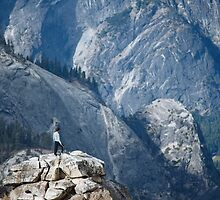 Climber near Half Dome, Yosemite by Hotaik  Sung