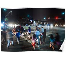 Busy street in Cupertino, California Poster