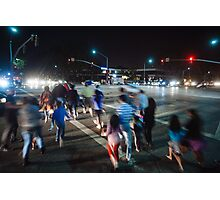 Busy street in Cupertino, California Photographic Print
