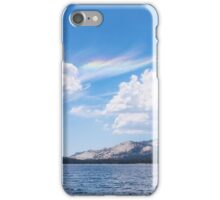 Tenaya lake with optical phenomena in sky iPhone Case/Skin