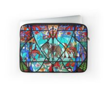 Stained glass elephant and antelopes Laptop Sleeve