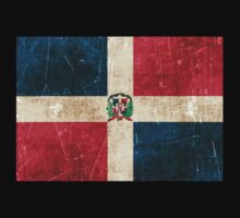 Vintage Aged and Scratched Dominican Republic Flag Kids Clothes