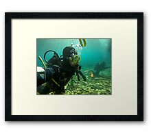 Scuba diving#18 Framed Print