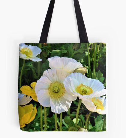 White Floriade Flowers Tote Bag