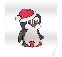 Christmas Penguin Poster