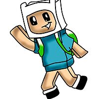 Minecraft finn adventure time by Koalka
