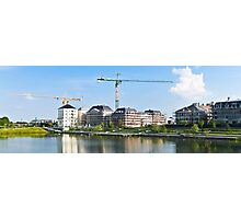 Panoramic view of a building construction Photographic Print