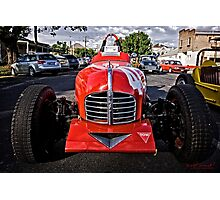 Red old Sports Car Photographic Print