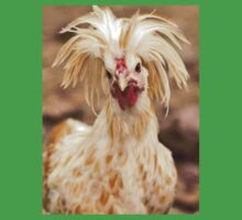 Bad Hair Day Rooster Art Print, Pillow, T-shirt, Hoodie, Tote Bag, iPhone Case, Samsung Galaxy Case, iPad Case Kids Clothes