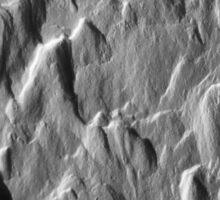 Snowy ridges, icy textures Sticker