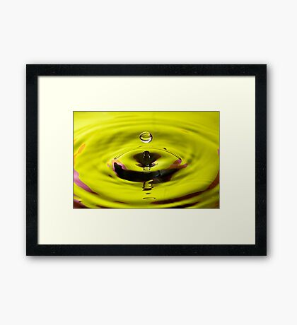 Colourful Water Drop Framed Print