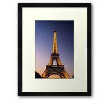 Eiffel Tower and sunset (2) Framed Print