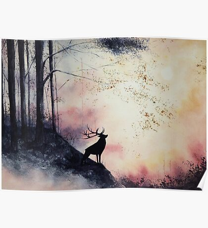 Out of the Forest Watercolor Poster