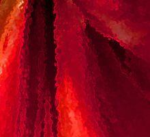 Vibrant red amaryllis Sticker
