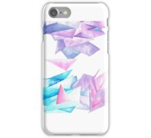 Quartz Crystal Watercolor Clusters in White iPhone Case/Skin