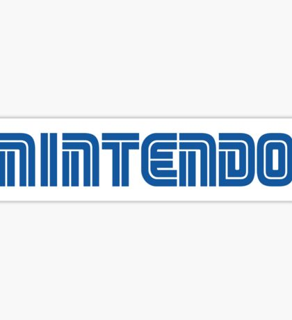 Nintendo in Sega Font - Sticker Sticker