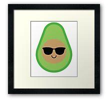 Avocado Emoji Cool Sunglasses Framed Print