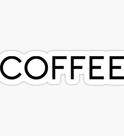 coffee chanel logo Sticker