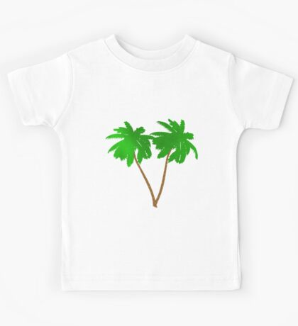 Watercolor Palm Tree Collage Kids Tee