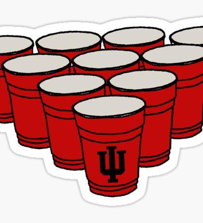 IU Beer Pong Sticker