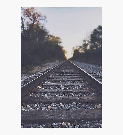 Twilight Railroad - original nature photography Photographic Print