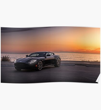 Aston Martin DB11 Sunset Poster