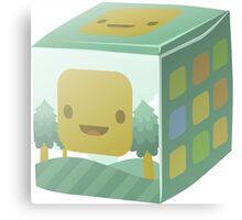 Glitch Cubimals cubimal package Canvas Print