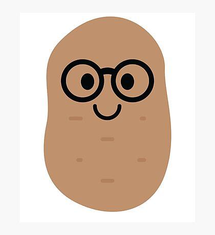 Potato Emoji Noob Nerd Glasses Photographic Print