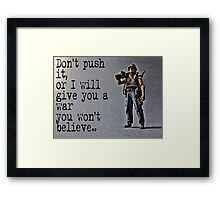 Rambo by Tim Constable Framed Print