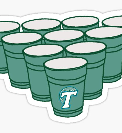 Tulane Beer Pong Sticker