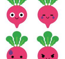 Radish Emoji Different Face Sticker