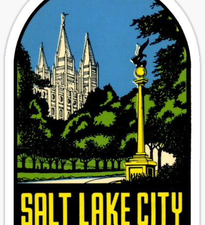 Salt Lake City Utah Vintage Travel Decal Sticker