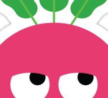 Radish Emoji Think Hard and Hmm Sticker