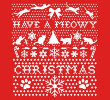 HAVE A MEOWY CHRISTMAS SWEATER PATTERN by awesomegift