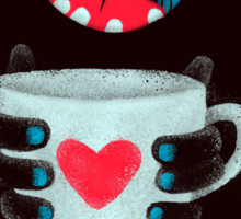 Demon with cup Sticker