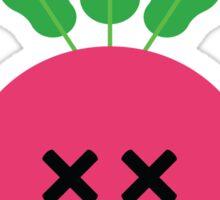 Radish Emoji Faint and Knock Out Sticker