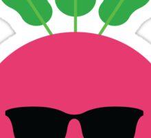 Radish Emoji Cool Sunglasses Sticker