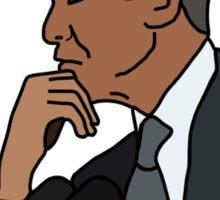 Barack Obama Computer Cartoon  Sticker