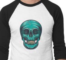 Blue Skull Men's Baseball ¾ T-Shirt