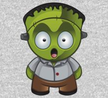 Frankenstein Monster Boy Shocked Baby Tee