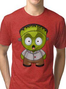 Frankenstein Monster Boy Shocked Tri-blend T-Shirt