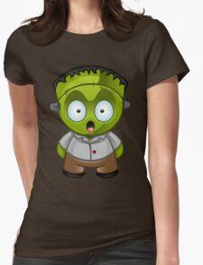 Frankenstein Monster Boy Shocked Womens Fitted T-Shirt
