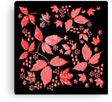 Chinese Lacquered Garden 中国漆木花园 Canvas Print