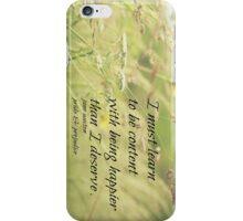 Jane Austen Content iPhone Case/Skin