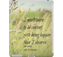 Jane Austen Content iPad Case/Skin