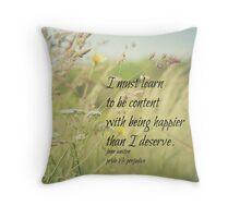 Jane Austen Content Throw Pillow