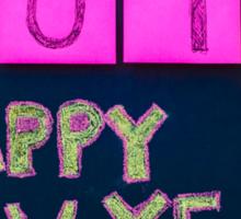 Happy New Year 2015 message hand written on blackboard Sticker