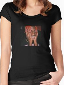 Lil Yachty Grills Women's Fitted Scoop T-Shirt