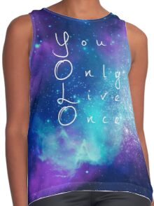 You Only Live Once watercolor galaxy Contrast Tank